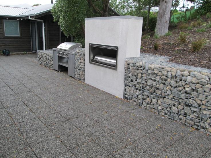 Gabion Retaining Wall Fire Place Gabion Ideas