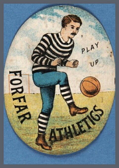 Forfar Athletic card from the 1900s.