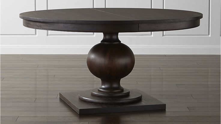 "Winnetka Round Extension Dining Table $1,999.00 Seats six (60""); eight with leaf (78"")"