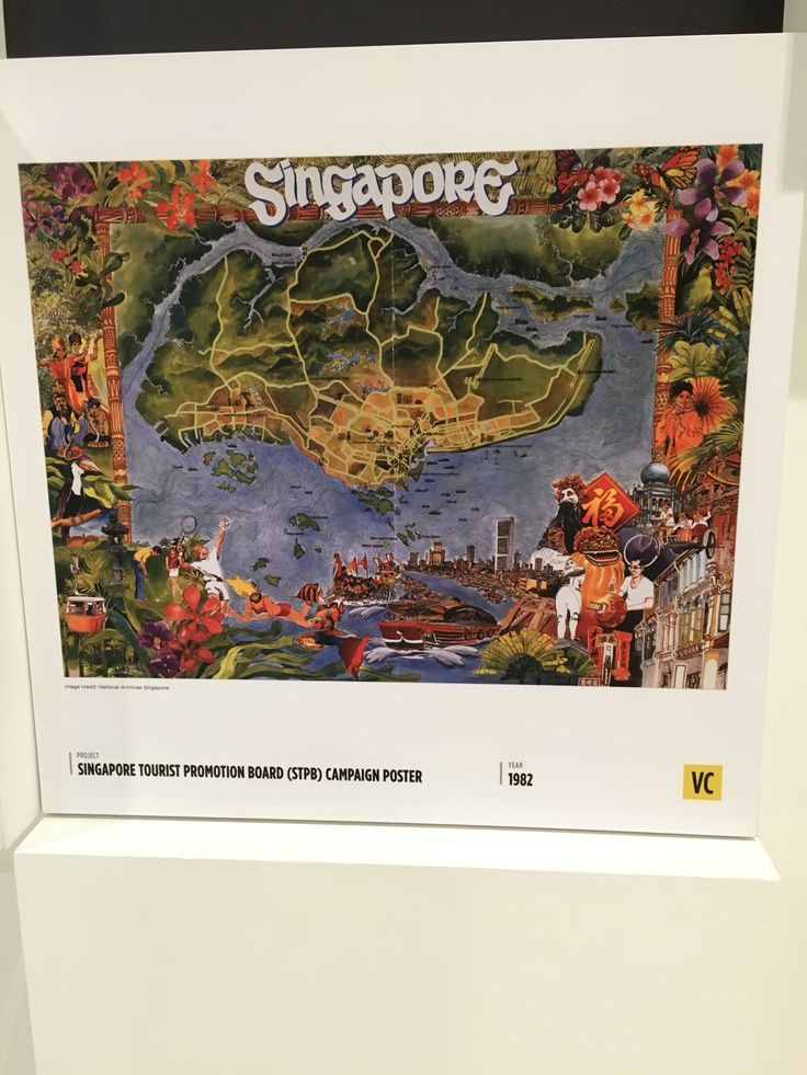 This campaign poster by the Singapore Tourist Board in 1982 was the effort of Singapore's first steps of developing its tourism infrastructure, in the new era of mass commercial aviation.