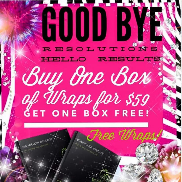 They way you end the year is the way you go into the new year.  Forget the resolutions.... get results! #BOGO sale ends when the ball drops 12/31 midnight!!!!  Think about it 8 wraps for $ 59!!! Thats crazy!!!   Call me 817-770-6698  to get your order in or   Checkout my Website!! www.wrapsbyvi.net  Tagg someone who wants to tighten, tone and Firm!  Sharing is caring.