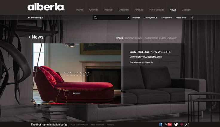 On Air new #controluce #website... #discover it on www.alberta.it or www.controlucehome.com  Check it out!