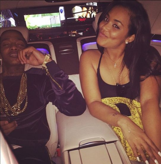 Lauren London and her man Nipsey Hussle....(how does she pick men?)