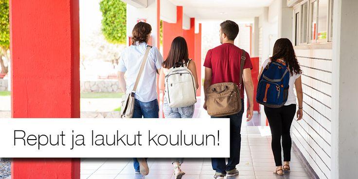 Reput ja laukut kouluun ja opiskeluihin!