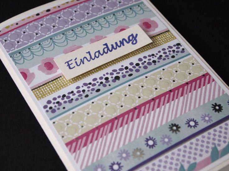 #Invitation #Einladung #papercraft #cardmaking #stamping #flowers #handmade