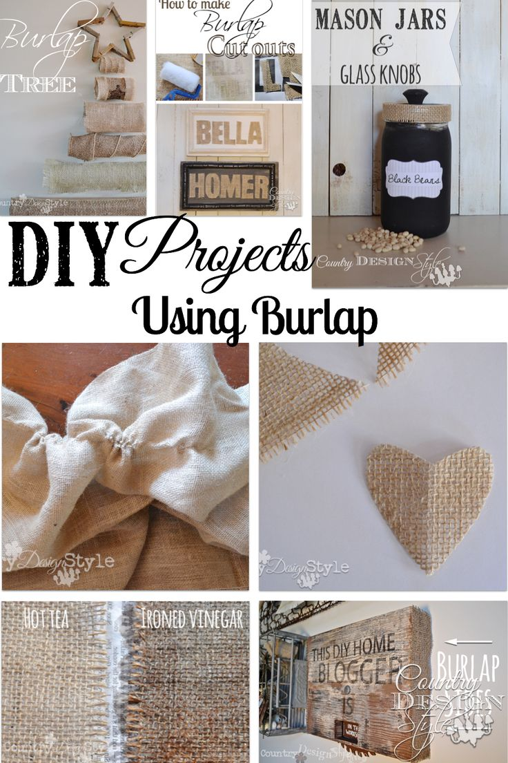 Burlap Burlap ProjectsBurlap CraftsCraft ProjectsCraft IdeasSewing