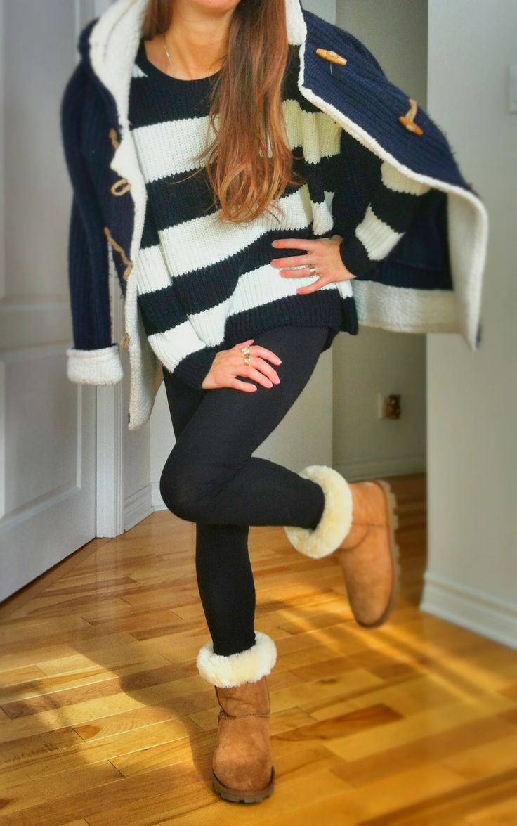 blue sweater uggs