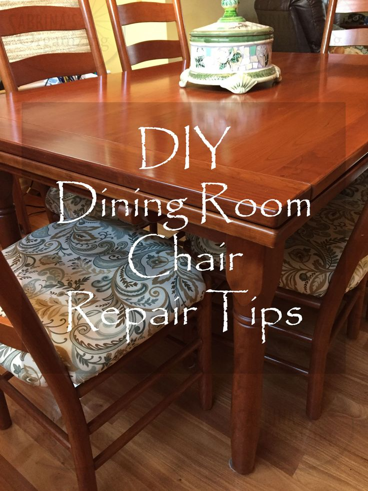 Amazing DIY Repair And Reupholster Dining Room Chair Tutorial