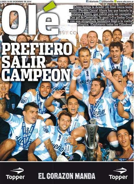 El póster del campeón.
