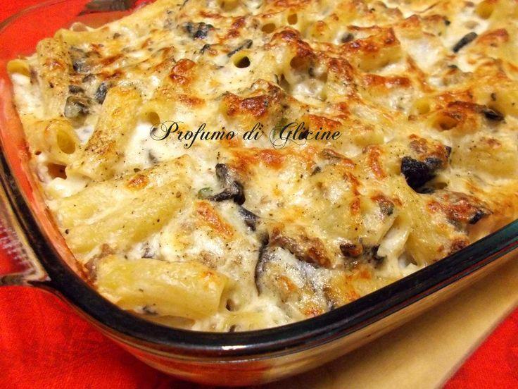 Il pasticcio di pasta al forno con salsiccia e funghi è una preparazione decisamente facile ed anche economica Blog Profumo di Glicine
