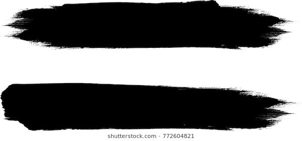 Grunge Paint Stripe Vector Brush Stroke Distressed Banner Black Isolated Paintbrush Collection Modern Texture Paint Stripes Vector Brush Cool Paintings