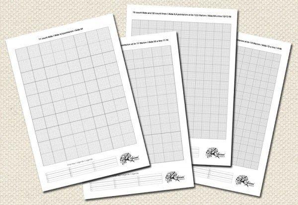 gratis printbare kruissteek grids