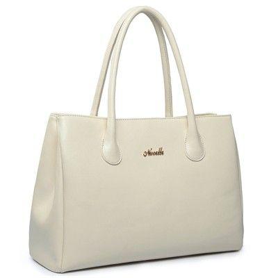 Elegant First Lady Series Genuine Leather Handbag (White) Elegant First Lady Series Genuine Leather Handbag (White)