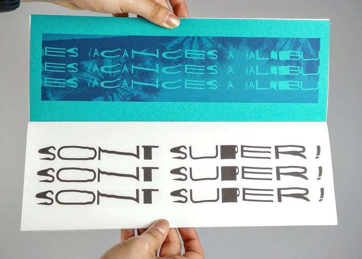 Basée sur Futura, heureuse est une typographie expérimentale de titrage créée à l'aide d'un scanner. Peu lisible, elle s'adapte à la répétition.  carnet :  impression laser couleur, composé en heureuse, reliure cahier cousu, 105 x 297 mm, 12 ...
