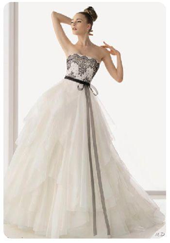 Fotos de vestidos de novia blanco y negro