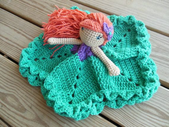 Do you know a girl that loves that little mermaid and her under the sea kingdom? I sure do! This sweet, soft lovey is just perfect for little