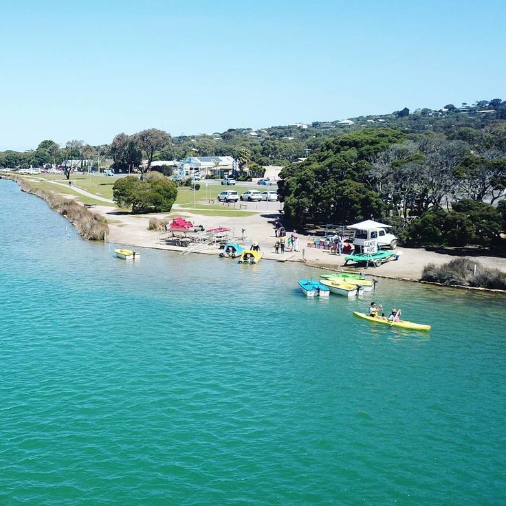 """Anglesea Adventure (@angleseaadventure) on Instagram: """"Choose your watercraft! @angleseapaddleboats has aqua bikes, fun (motor) boats and canoes for hire.…"""""""