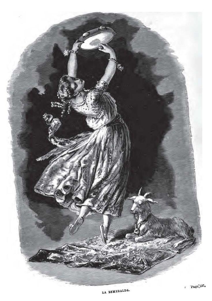 Esmeralda And Djali Illustration From Notre Dame De