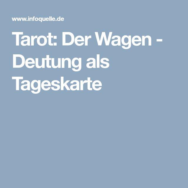 Tarot: Der Wagen - Deutung als Tageskarte