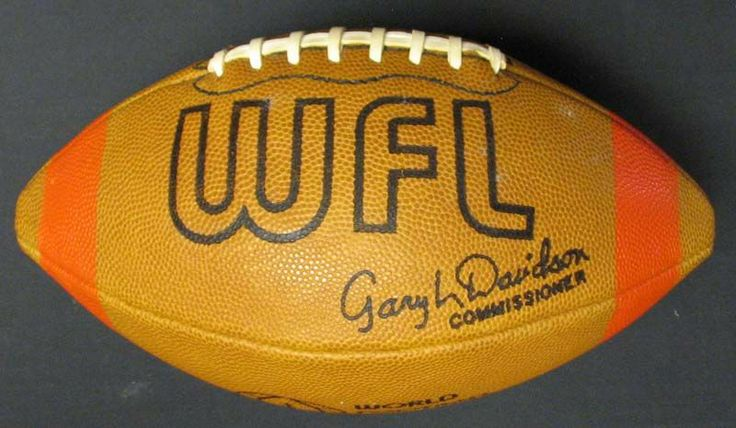 World Football League (mid-70s): This is the game football, signed by the Commissioner, Gary Davidson.