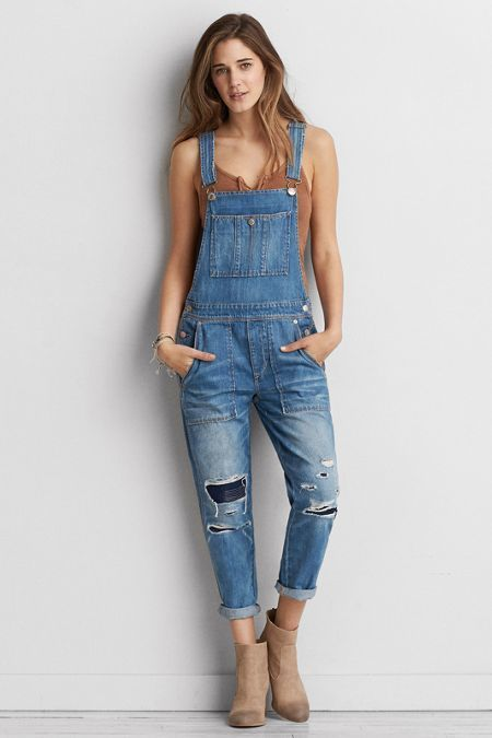 American Eagle Outfitters AEO Denim Overalls