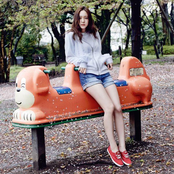 f(x) Krystal Jung Oh Boy Magazine June 2015 Photoshoot Keds Shoes