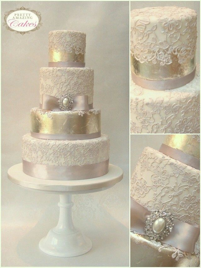 79 best Lace and Vintage wedding cakes images on Pinterest