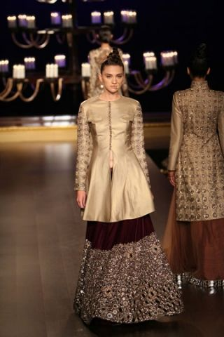 Love the jacket not a big fan of the lehenga skirt Manish Malhotra | India Couture Week 2014