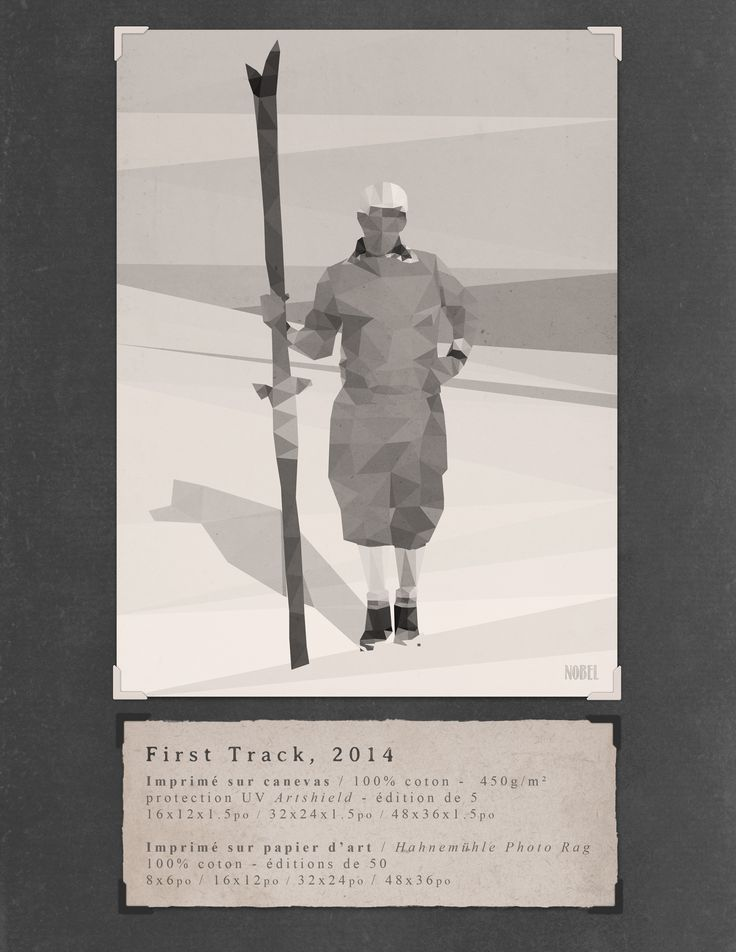 First Track, 2014. 48x36in. #print on canvas & print on #Hahnemühle Photo Rag. Limited edition. #chic #shack #shabby #vintage #skier #ski #winter #mountain / Artist is Boris Nobel / Taken from his portfolio
