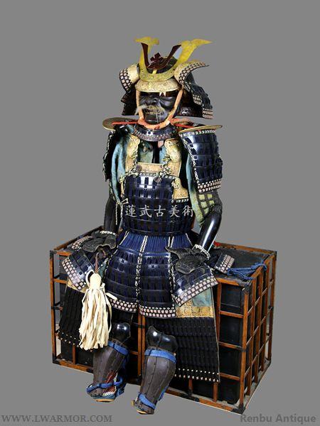 A6-Kuro Urushi Nuri Mogami Dou gusoku(EDO)A6-鉄黑漆塗最上胴具足 (江戸期)--Japanese Samurai Armor (YOROI); Samurai Helmet(KABUTO) ; Samurai Mask(MENPO) ;Buddhist art:Other World Antiques for Sale and Purchase