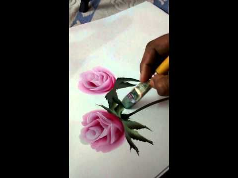 Rose painting - a simple way - YouTube                                                                                                                                                                                 Plus