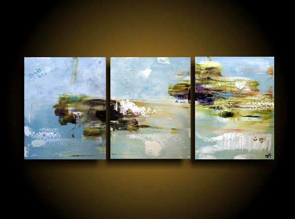 Large Abstract Painting By The Raw Canvas Original Canvas