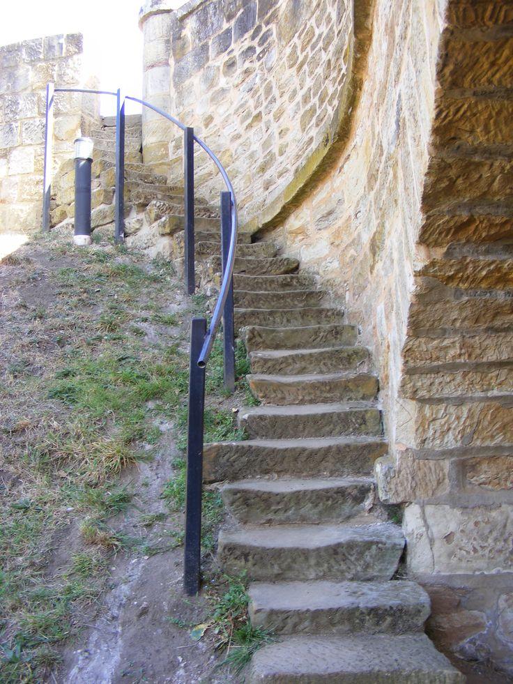 Well worn steps at the Richmond Bridge.