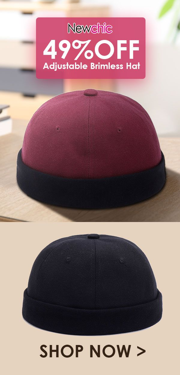 2f34f58277aa6 Adjustable Solid French Cotton Bucket Cap Retro Vogue Crimping Brimless Hats