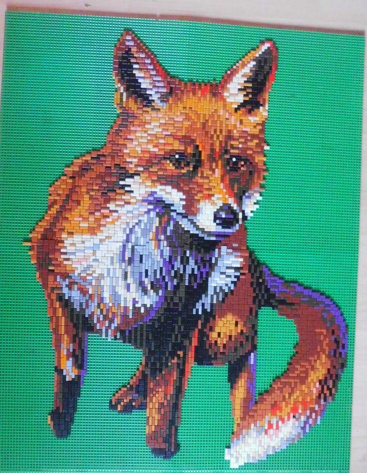 Ministeck Auflösung tolle Motive Sammlung alt: Fuchs  67x54 cm