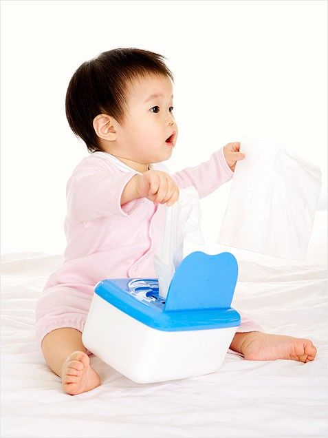 Baby Toys You Already Own - Baby Wipe Box
