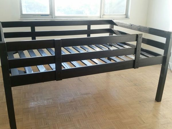 doublefull bed frame from ikea black wood