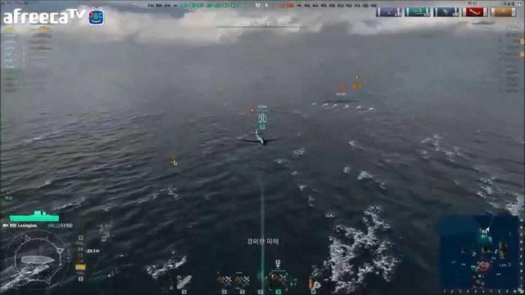 world of warships : #16 CV-2 lexington play by hoieuropa