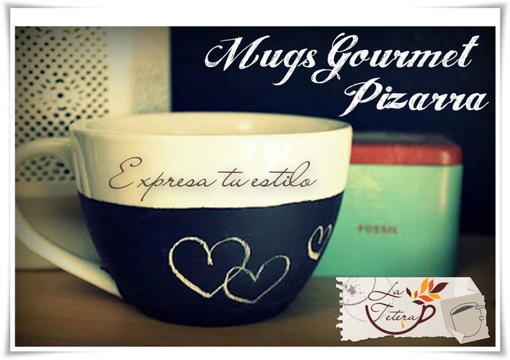 Mugs Gourmet Pizarra para expresar todo lo que sientes!! www.lateteramugs.com