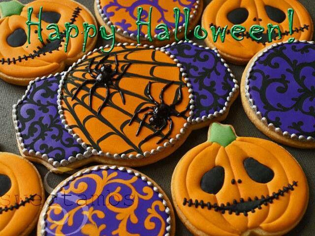 Mejores 95 imgenes de Galletas de Halloween en Pinterest Galletas