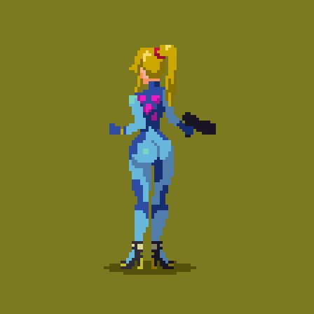 Samus Zero Suit Fan Art
