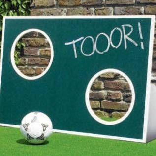 Torwand bauen - für die Fußballparty. Mit Bauplan.