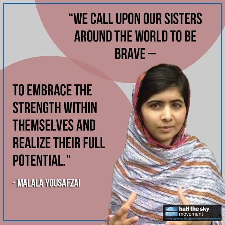 Malala Yousafzai was s...