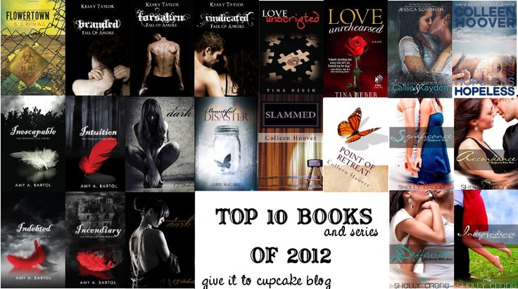 Give it to Cupcake (she'll eat it): Top 10 Books(and Series) of 2012    Flowertown by SG Redling  Fall of Angels Series by Keary Taylor  Beautiful Disaster by Jamie McGuire  Slammed & Point of Retreat by Colleen Hoover  Love Unscripted & Love Unrehearsed by Tina Reber  The Premonition Series by Amy Bartol  The Significance Series by Shelly Crane  The Dark Duet by CJ Roberts  The Coincidence of Callie and Kayden by Jessica Sorensen  Hopeless by Colleen Hoover
