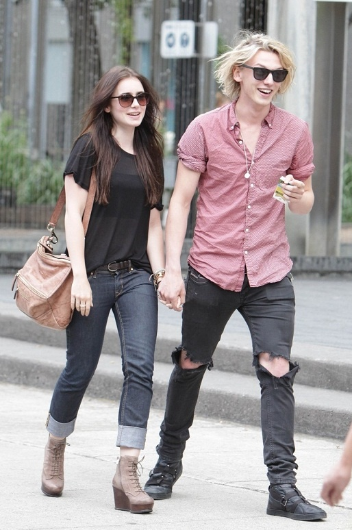 Lilly Collins & Jamie Blackwell