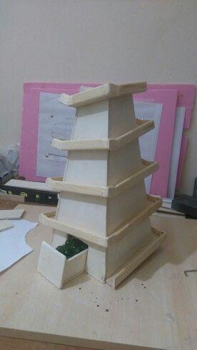 Ahşap piramit bilye yolu - marble machine