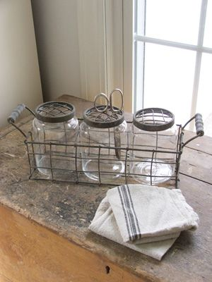 cottage style windows grids | Metal Cage Flower Frog Vases and Wire Caddy