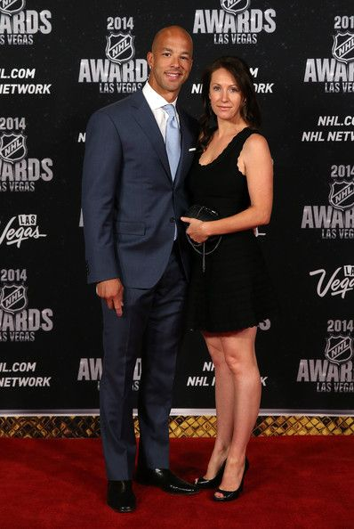 Manny Malhotra Manny Malhotra of the Carolina Hurricanes and his wife Joann arrive on the red carpet prior to the 2014 NHL Awards at Encore ...