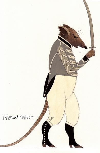 beautiful Rat King costume illustration by designer Richard Hudson for the American Ballet Theater's Nutcracker Season