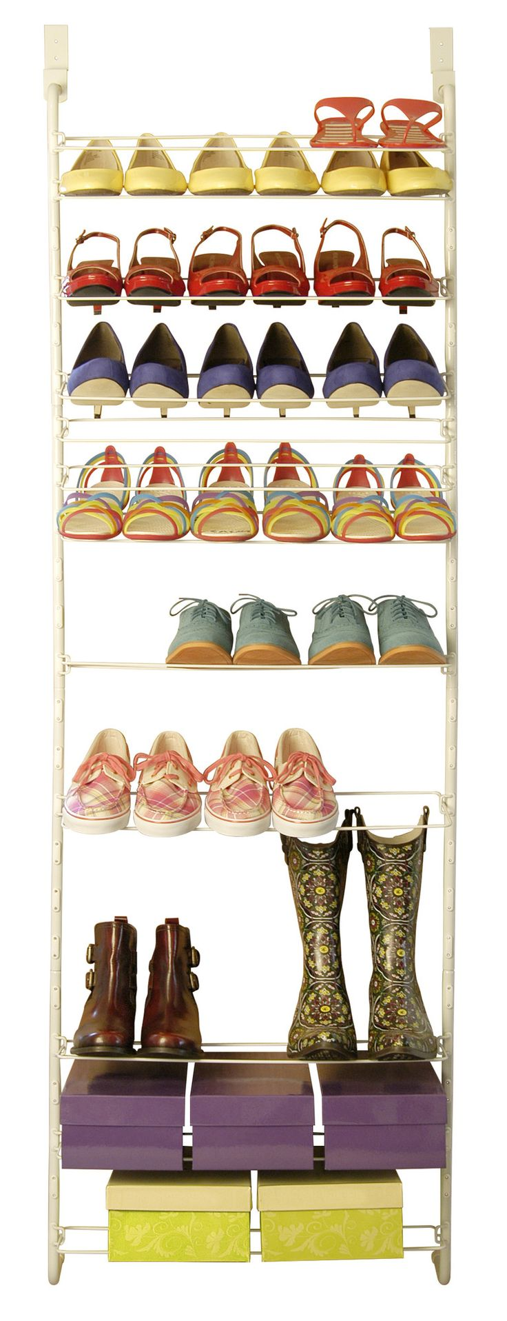 Customizable Over Door Shoe Rack